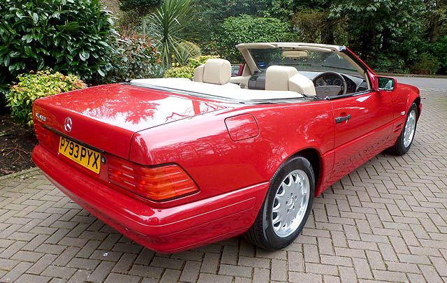 Baru 130 KM, Mercedes-Benz SL500 1996 Siap Dilelang