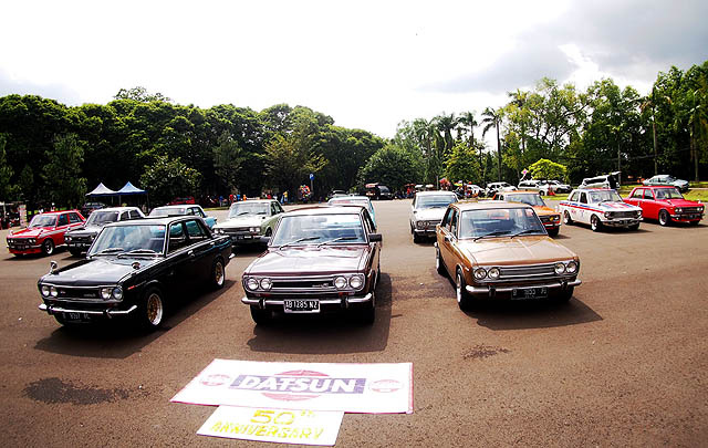 Komunitas Datsun Rayakan '50th Anniversary Datsun 510'