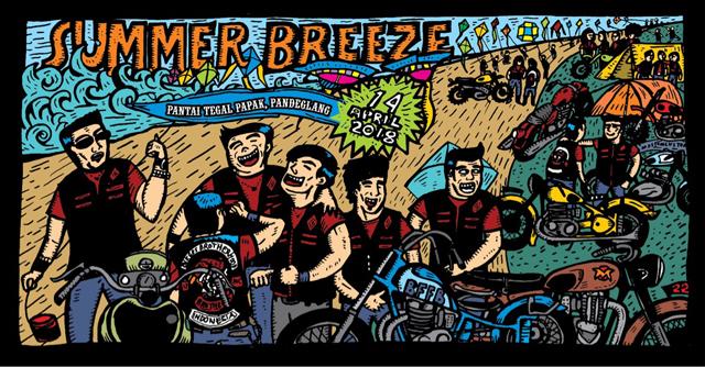 BBMC Jakarta Chapter Gelar Ultah ke-7, Summer Breeze di Pantai Tegal Papak