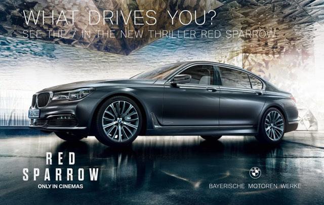 BMW Seri 7 Hadirkan Tampilan Ikonik Dalam Film Red Sparrow