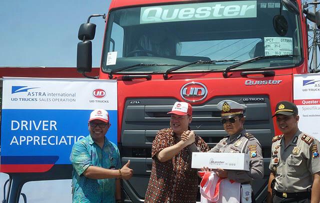 UD Trucks Gelar Program Apresiasi Pengemudi Truk di Pasuruan