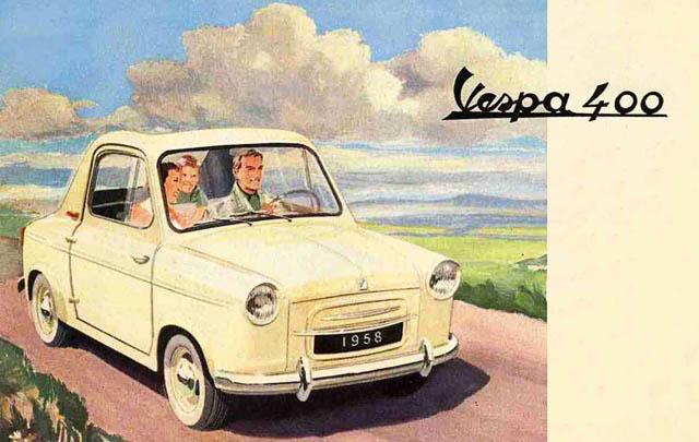 Vespa 400, Microcar Klasik dari Piaggio
