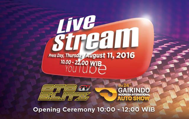 GIIAS 2016, Otoblitz TV Tayangkan Live Streaming