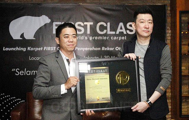 Ukuran Paling Tebal, Karpet Mobil First Class Raih Penghargaan ROI