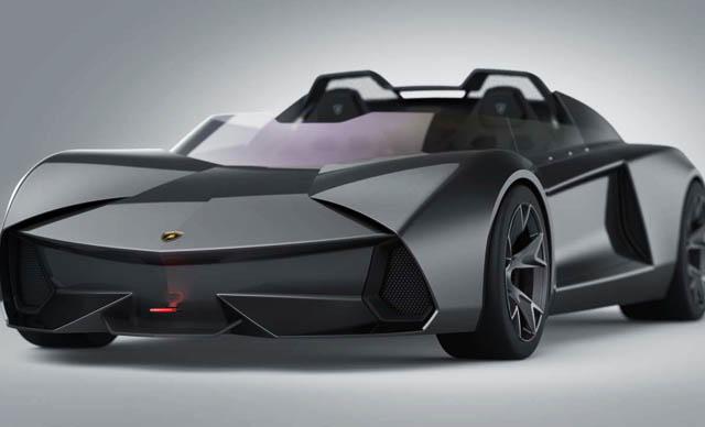 Lamborghini Burlero, Konsep Supercar Listrik Tanpa Atap