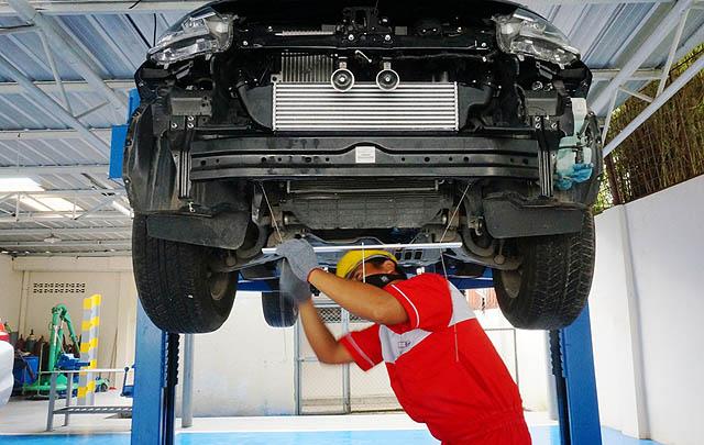 MMKSI Resmikan Fasilitas 'Mitsubishi Bodi & Cat' Pertama di Sumut