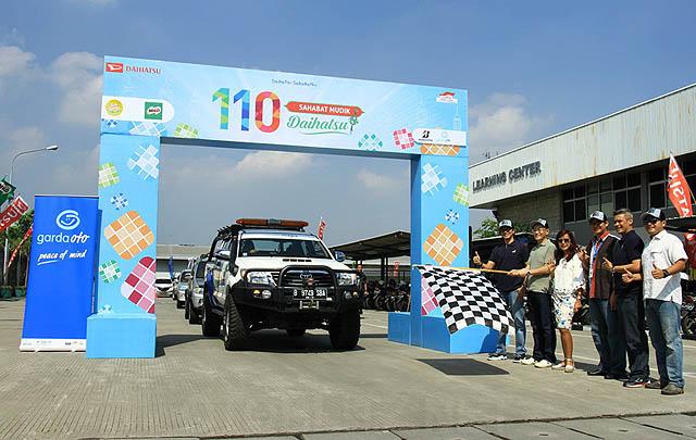 Daihatsu Ajak 110 Keluarga dari 11 Klub Mudik Bareng