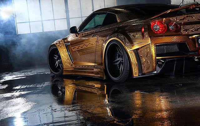 Nissan GTR Berlapis Emas Siap 'Gemparkan' SEMA Show 2016