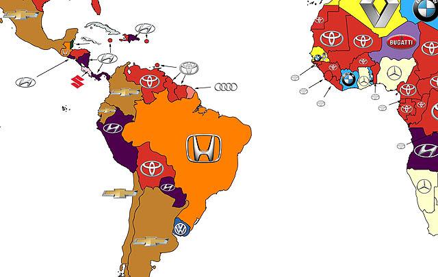 Ini Peta Brand Mobil Paling Banyak Dicari di Google