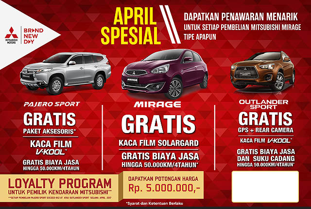 Mitsubishi Motors Siapkan Program Menarik di Bulan April