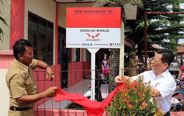 Peduli Pendidikan, SGMW Motor Indonesia Beri Bantuan SDN 03 Sukamahi