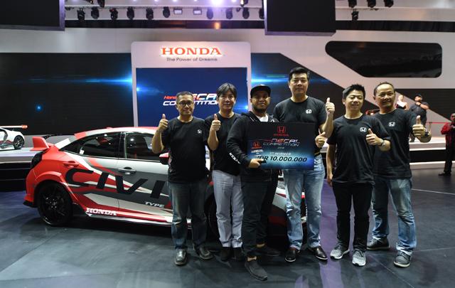 IIMS 2018: Ini Pemenang Honda Decal Competition Honda Civic Type R