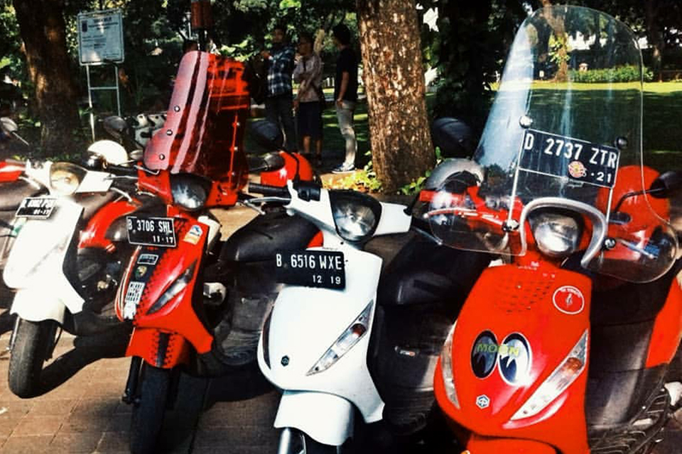 Komunitas Piaggio Zip Eksis di Jakarta