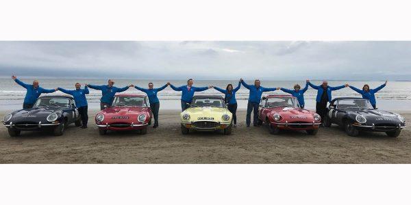 Perjalanan 'Round Britain Coastal Drive' Jaguar E-type Club