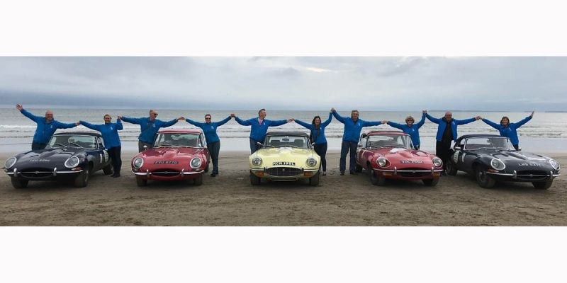 Perjalanan 'Round Britain Coastal Drive' Jaguar E-type Club